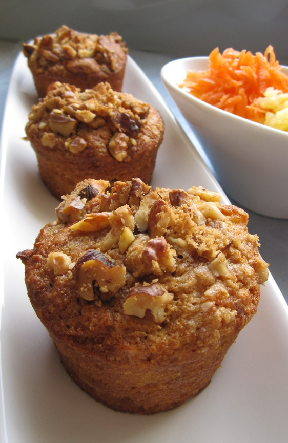 Vegan Pineapple Carrot Muffins