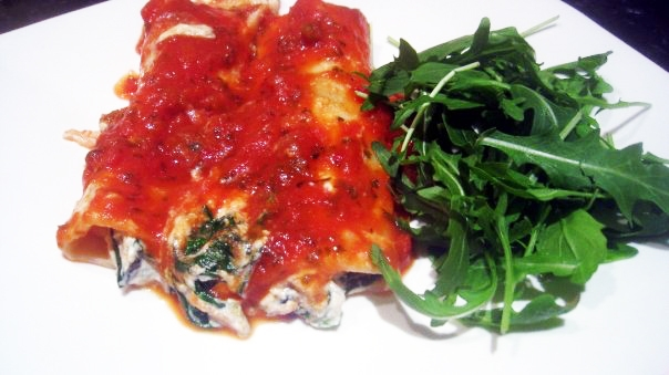 Tofu & Spinach Cannelloni (Manicotti) - Vegan, Low-Fat, Gluten-Free