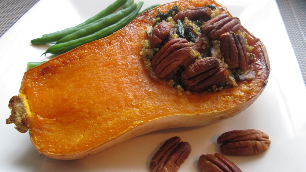 Quinoa-Stuffed Thanksgiving Squash - Vegan and Gluten-Free