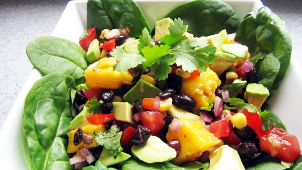 Avocado Mango Black Bean Salad / Dip – Vegangela