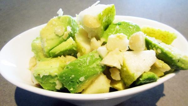 Avocado Macadamia Pear Salad - Vegan & Gluten-Free