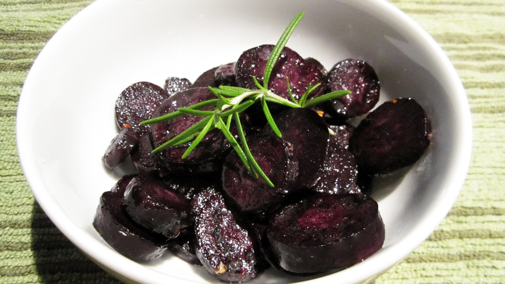 Roasted Purple Carrots
