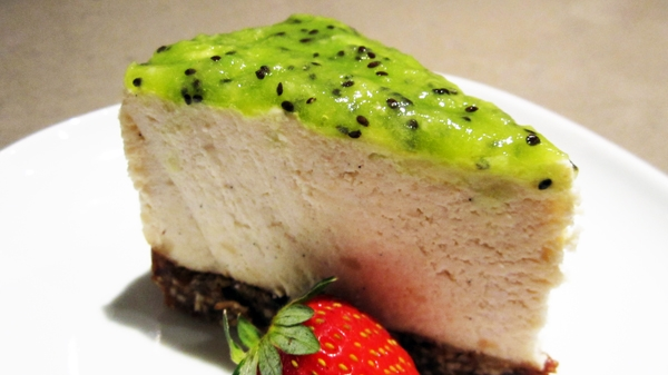 Almost Raw Vegan Cheesecake