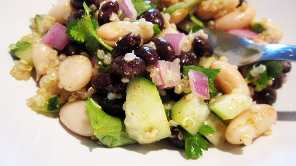 Spicy Black & White Bean Quinoa Salad