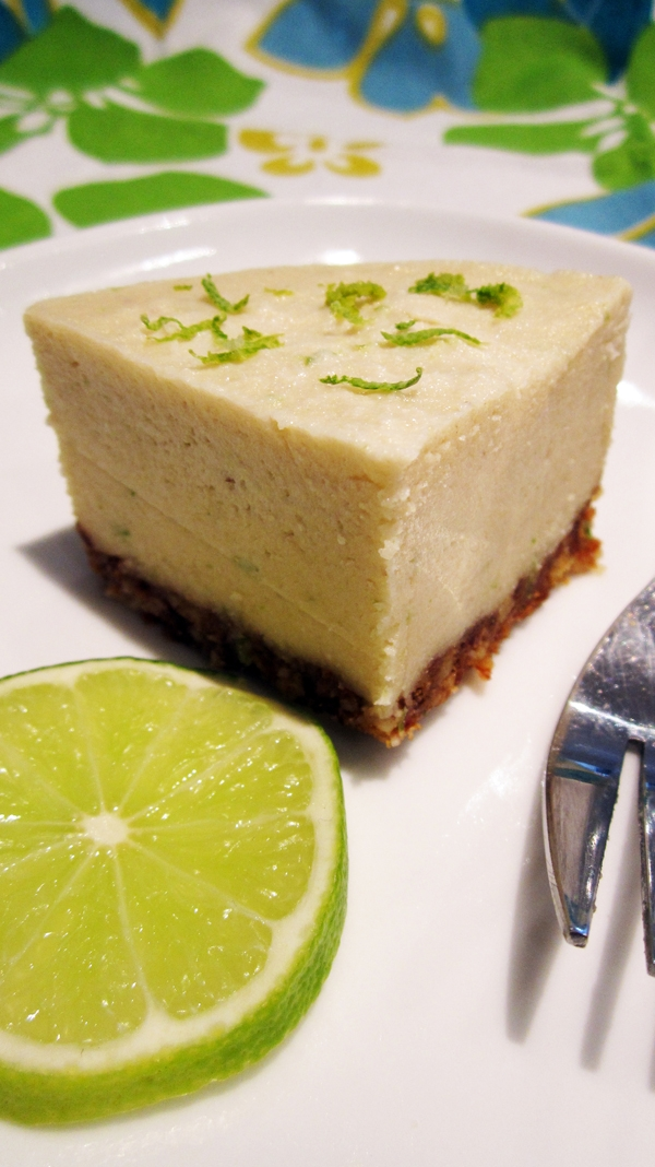 (Almost Raw) Vegan Key Lime Cheesecake