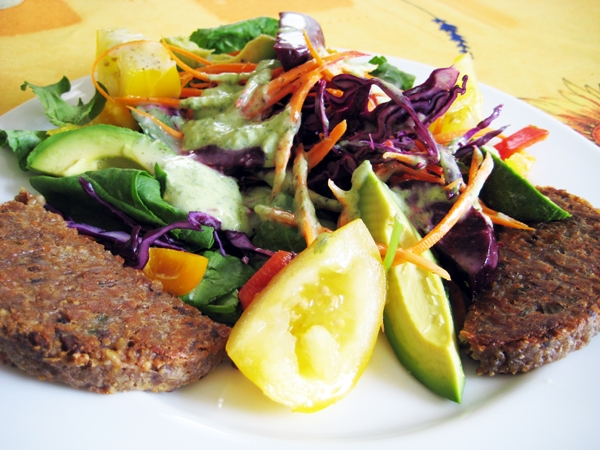 Amy's California Veggie Burger + Salad