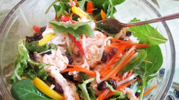 Rice Noodles w/ Fresh Restaurant's Tangled Thai Salad Dressing