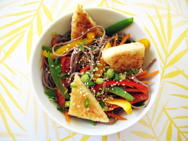 Hot & Cold Soba Noodle Salad (Vegan, Gluten-Free)