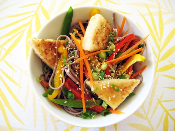 Hot & Cold Soba Noodle Salad - Vegan & Gluten-Free