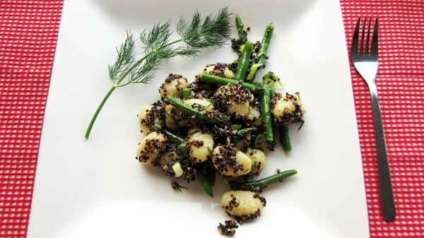 Gnocchi Potato Salad with Green Beans & Quinoa