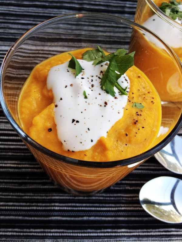 Carrot Apple Ginger Soup with Coconut Milk - Vegan & Gluten-Free