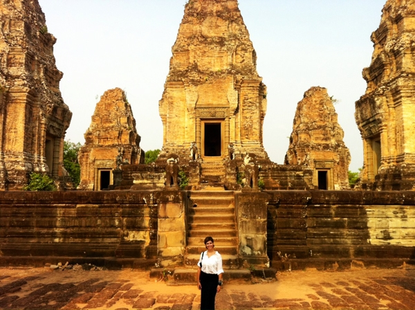 East Mebon temple in Siem Reap, Cambodia