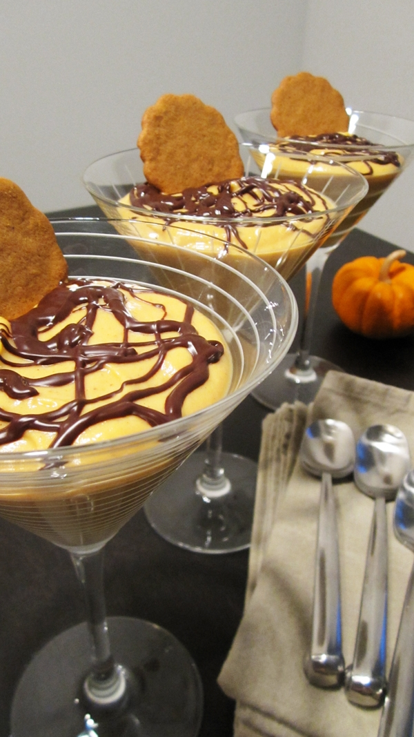 Chocolate Ginger Snap Pumpkin Parfaits
