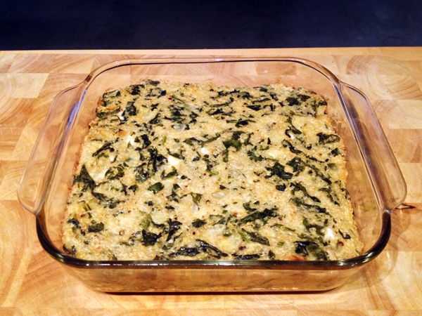 Vegan Spinach & Lemon Quinoa Bake