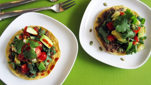 Refried Black Bean Tostadas - Vegan & Gluten-Free